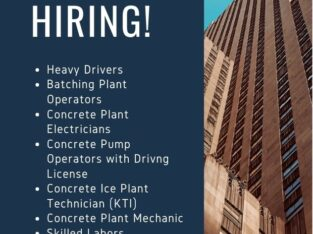 Readymix Concrete Jobs in Qatar 2020