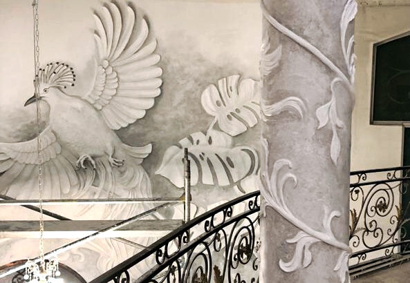 3D interior Bas relief works with different media